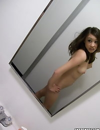 Cute asian girlfriend takes selfshot pictures of herself for her new boyfriend