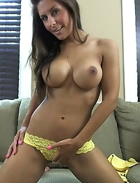 Danni Gee looking hot in yellow