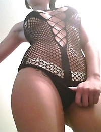 Veronica looking sexy in fishnets