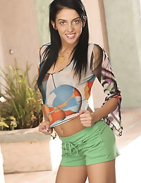 Mia Manarote plays with her aroused body