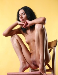 Skinny brunette Sandra loves to pose her insolent nude body