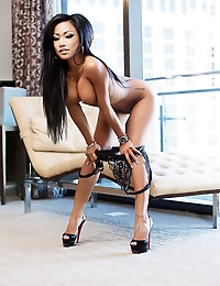 CJ Miles is so incredibly sexy in her black lingerie and sexier naked.