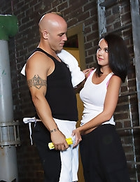 Dillion Harper gets a full workout when her running partner Derrick Pierce takes it to the next level.