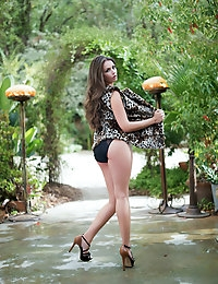 Allie Haze loves to show off her naughty side when she is outdoors.