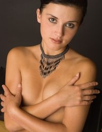 We're still in the process of adding more photos to Ronni's numerous galleries. Today, we've got her second Prague session - a nude portrait series that once again shows off those big brown sparkly eyes, and obviously some other things as well.