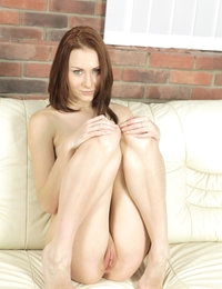 Alice likes to use a glass dildo on her holes