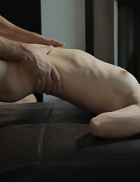 Sage Evans cannot wait to give her man a blow job before taking him into her dripping tight pussy and fucking him hard