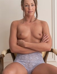 """Digging into the Archive today for an updated photo set that was actually my very first nude shoot with a digital camera. This series with Cleo was shot in a San Francisco mansion, using Nikon's first pro digital, the N1, which produced """"enormous"""" files up to 2000 pixels!  Today's gallery has the files uprezzed to 3000px for the site, but the medium size shots are closer to the raw captures.  We'll have more of the updated Cleo shoot in the near future."""